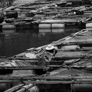 Floating fishing villages.