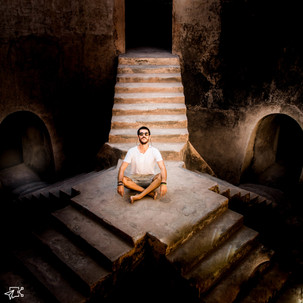 Meditating to light.