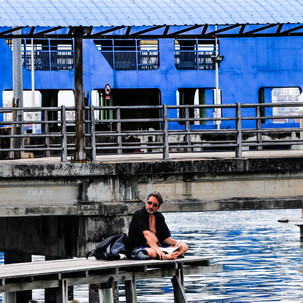 Resting on the Jetty.
