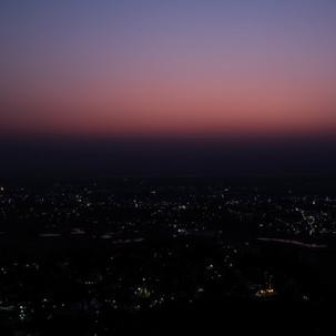 Mandalay Night view point from Mandalay Hill.