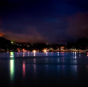 Bogambara lake by night.