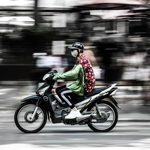 Panning in Hanoi.