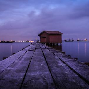 Penang Jettys by night.