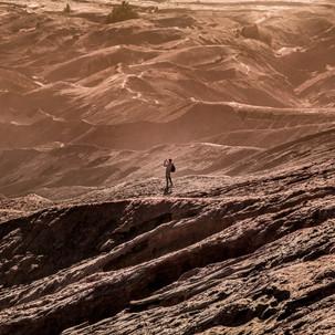 Random fellow admiring the sands of Brom