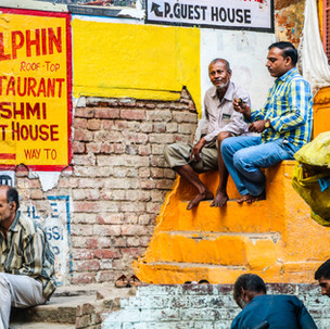 People and colours in Varanasi.
