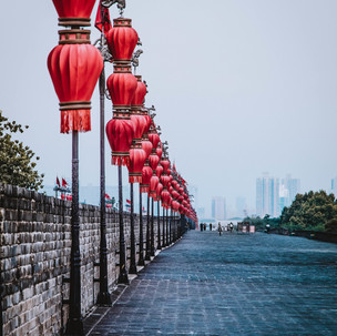 Chinese lamps.
