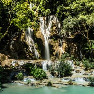 Kuang Si Waterfalls.