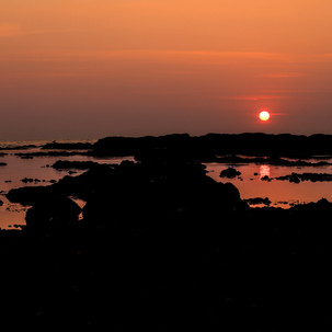 Anjuna beach sunset.