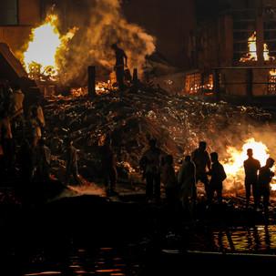 Humans cremation cerimony.