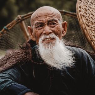 Mr Huang, an old Cormorant fisherman.