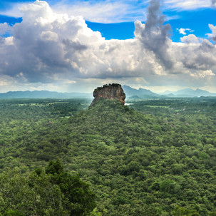 View to Lion's Rock from Pidurangala Rock.