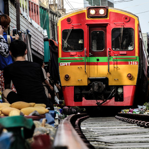 One of the most famous trains in Bangkok.