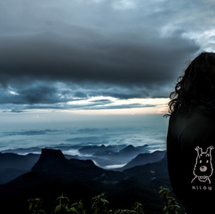 Milou at Adam's Peak.