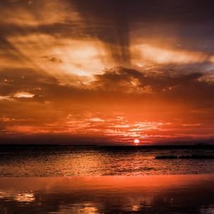 Maldivian sunset.