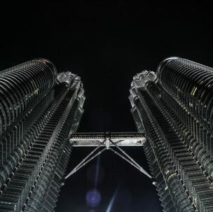 Petronas and the moon.