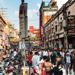 The crowdiest street of Varanasi.
