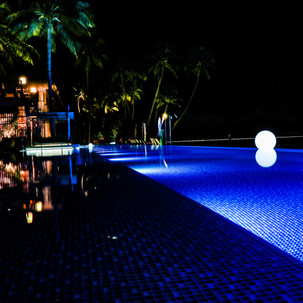Night swimming pool.