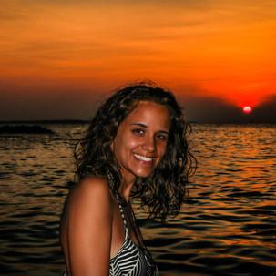 Go Meet Share girl enjoying the sunset.