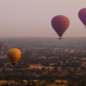 Balloons over Old Bagan.