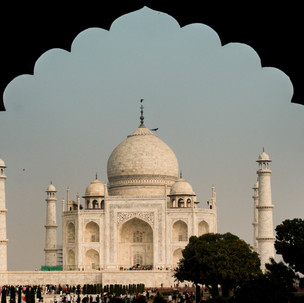 Taj Mahal portrait.