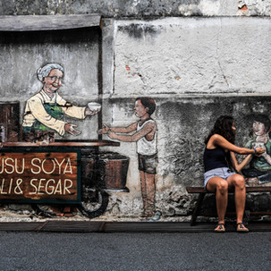 Penang urban art. Food is good.