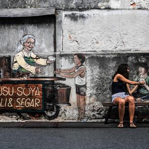 Penang urban art. Food is good.