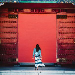 Wandering around the Forbidden City.