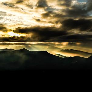 Sunrise at Adam's Peak.