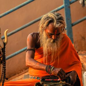 Spiritual man in his believings.