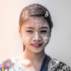 Myanmar Girl with efects.