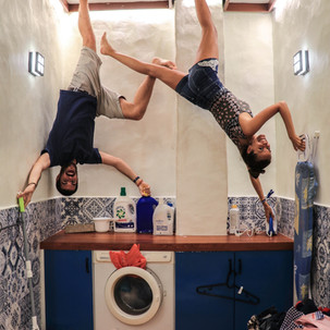 Upside Down Museum. Laundry Room.