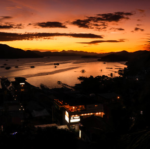 Amazing sunset in Coron.