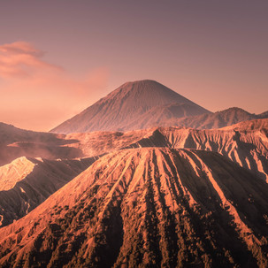Bromo and volcanoes.