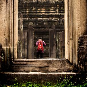Every door is a frame in Angkor Wat.