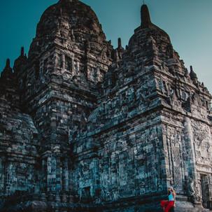 Wondering around Prambanan complex.
