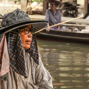 Sales woman at Floating Market.