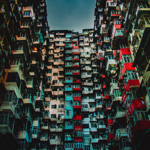 Residential houses of Hong Kong.