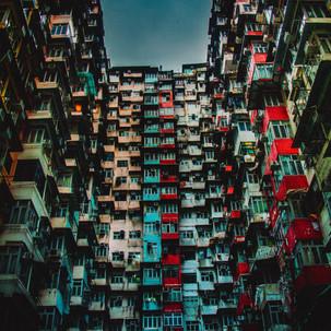 Residential houses of Hong Kong.