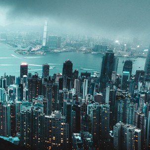 Hong Kong skyline from Victoria Peak.