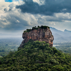 View to Lion's Rock from Pidurangala Roc