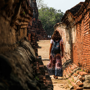 Wandering in Ayutthaya temples.