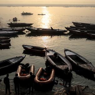 Sunrise and boats.