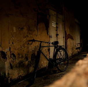 Abandoned bike in Galle Fort.
