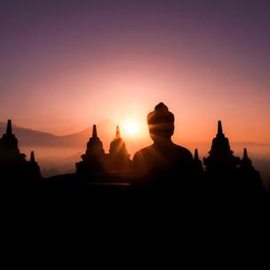 Classic Borobudur sunrise.
