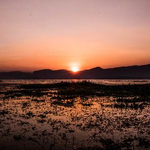Inle Lake sunset.