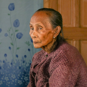 Old woman. Many memories.