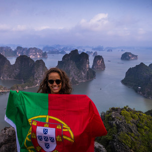 Portugal at the top of Bai Tho Poem Mountain.