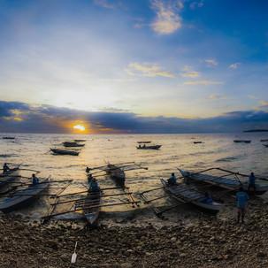 Sunrise bay at