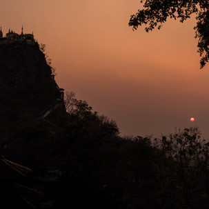 Sunset at Mount Popa.