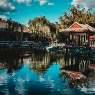Summer palace reflections.